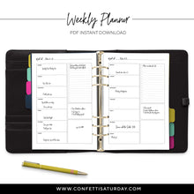 Load image into Gallery viewer, Weekly To Do List Planner Pages-Confetti Saturday