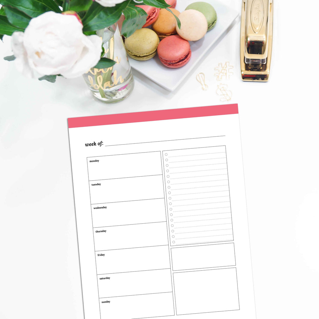Weekly Planner, Undated v1 | Classic-Rings and Disc Planner-Confetti Saturday