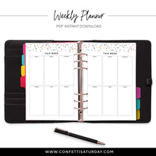 Load image into Gallery viewer, Weekly Boxes Planner Pages-Confetti Saturday