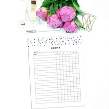 Load image into Gallery viewer, Weekly Habit Tracker Planner | Signature Confetti