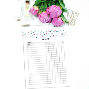 Weekly Habit Tracker Planner | Signature Confetti