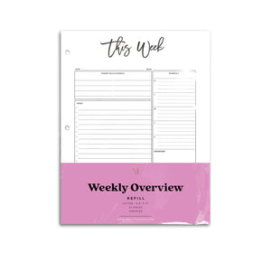 Weekly Planner Page Inserts | City