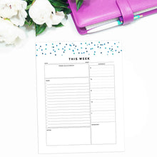 Load image into Gallery viewer, Weekly Planner Summary | Signature Confetti