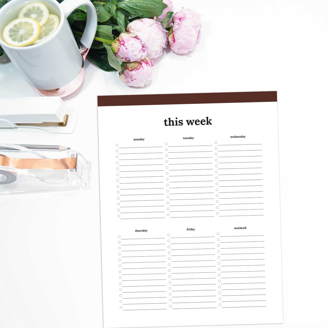 Weekly To Do List | Classic-Rings and Disc Planner-Confetti Saturday