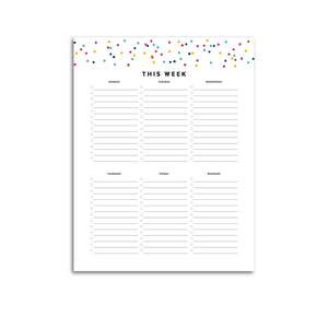 Weekly To Do List | Signature Confetti