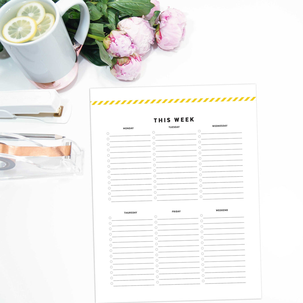 Weekly To Do List | Signature Stripe