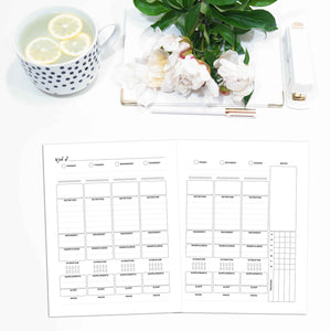 Weekly Wellness Planner Inserts, Undated, WO2P | City