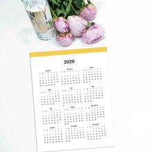 Load image into Gallery viewer, 2020 Year At A Glance | Classic-Rings and Disc Planner-Confetti Saturday