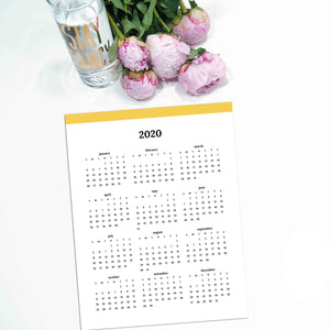 2020 Year At A Glance | Classic-Rings and Disc Planner-Confetti Saturday