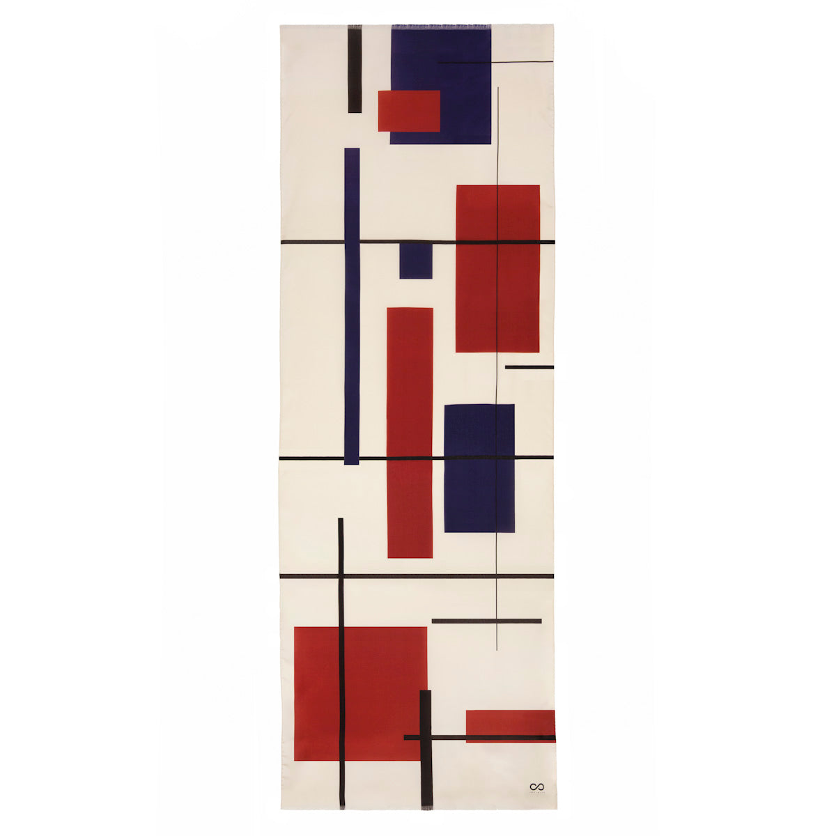 luxury pure silk scarf made-in-italy Mondrian inspiration