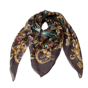 luxury silk foulard made-in-italy large size light texture