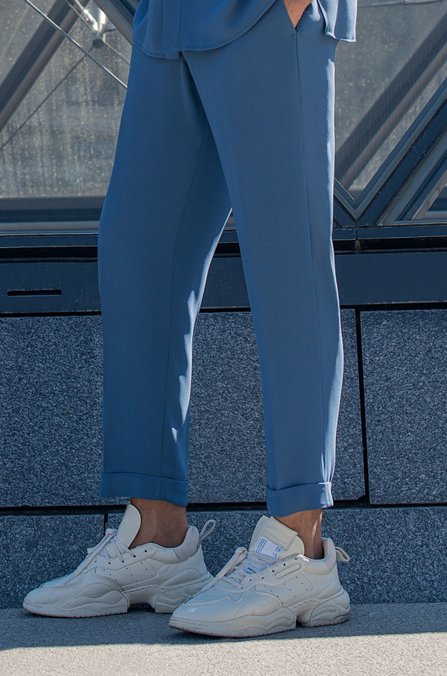 Capri silk pants