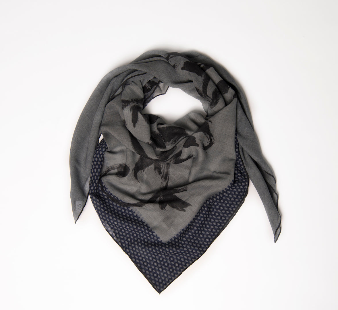 luxury foulard made-in-italy hand rolled edges wool yack