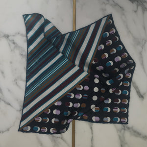 luxury pocket square pure silk made-in-italy hand rollled edges