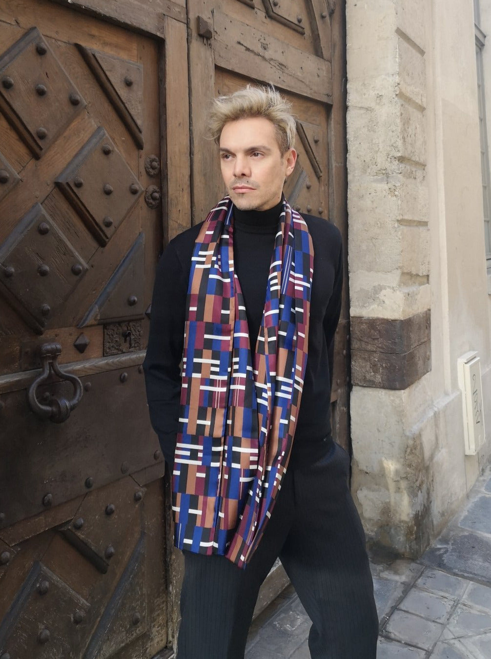 pure silk made in France luxury scarf classic