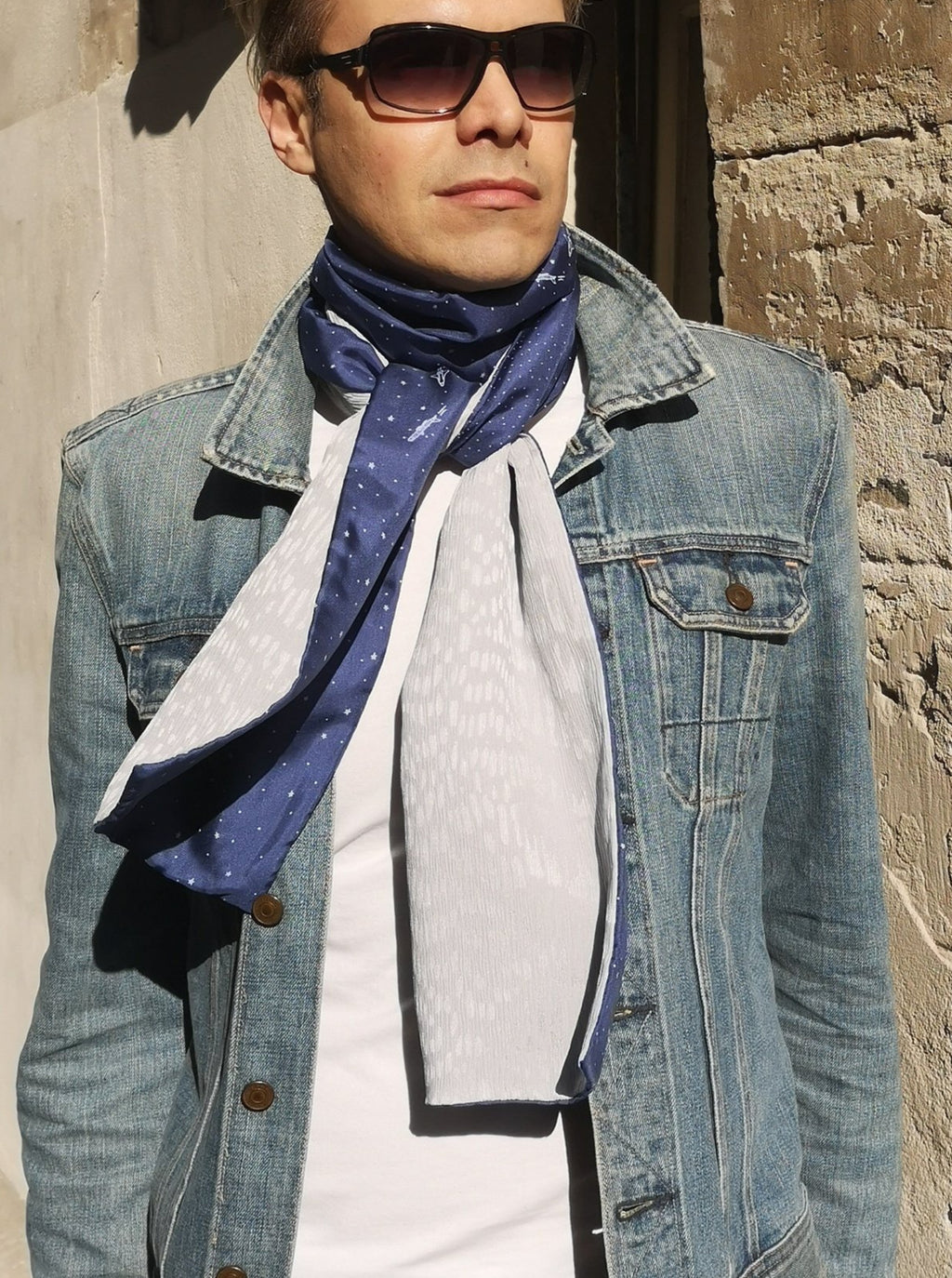 streetstyle Paris luxury silk scarf made in france upcycling