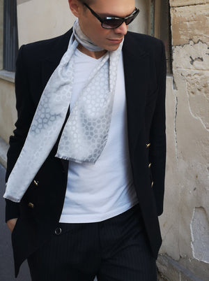 dandy luxury scarf silk wool made in France