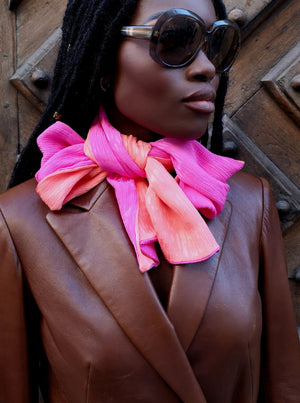 luxury silk scarf made in France