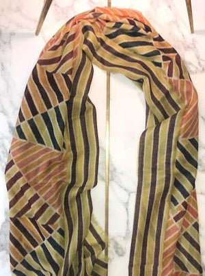 luxury cashmere scarf made-in-italy Picasso painting inspiration