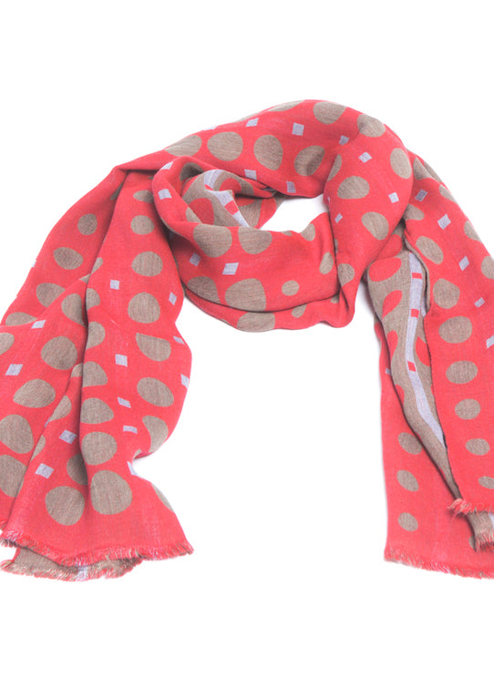 luxury scarf made-in-italy dots design