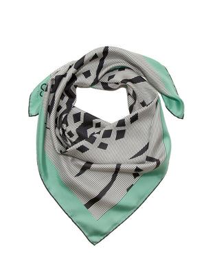 luxury silk foulard made-in-italy art-deco