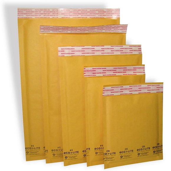 Bubble-Lined Kraft Mailers - SOLD BY CASE