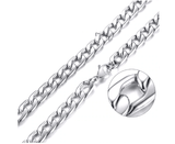 Mens Stainless Steel Silver Cuban Link Chain