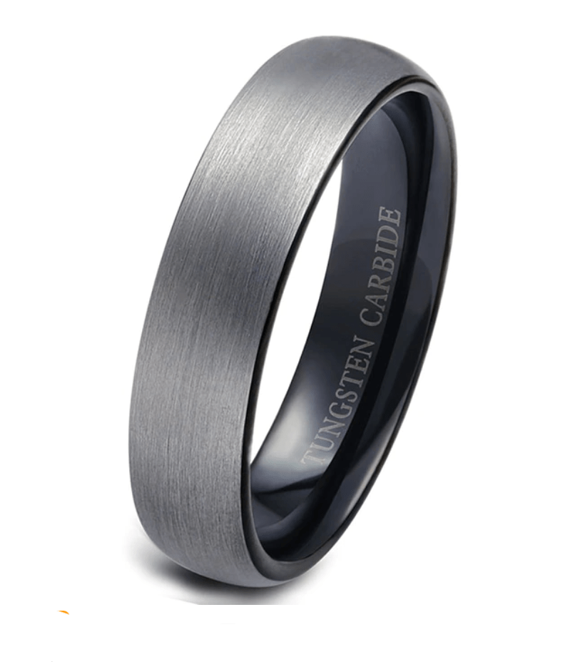 Tungsten Carbide Wedding engagement grey  Ring for Men