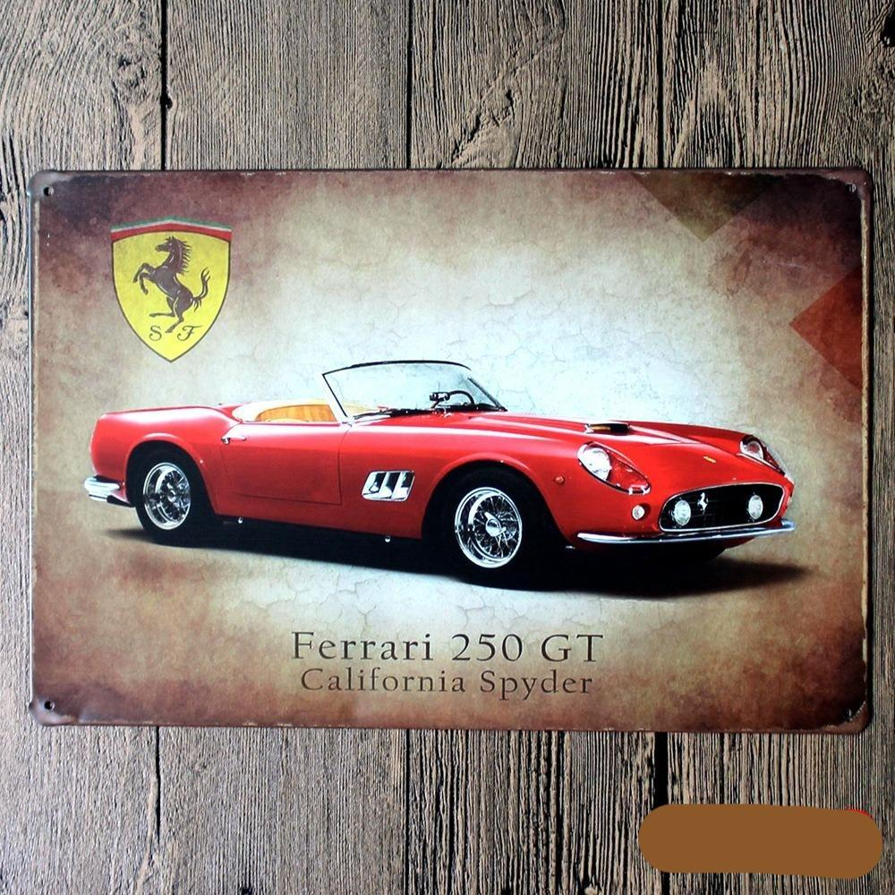 Ferrari Car Tin  Poster