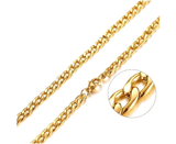 Mens Stainless Steel Gold Cuban Link Chain