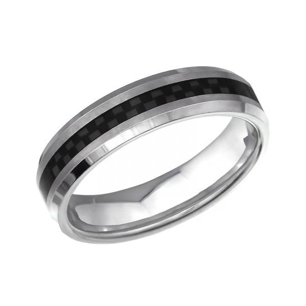 Titanium Yellow Wedding Band Ring