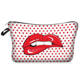 Cute Lips Cosmetic Bag for Travel