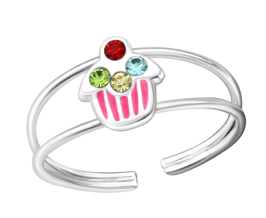 Children's Sterling Silver Cupcake Ring