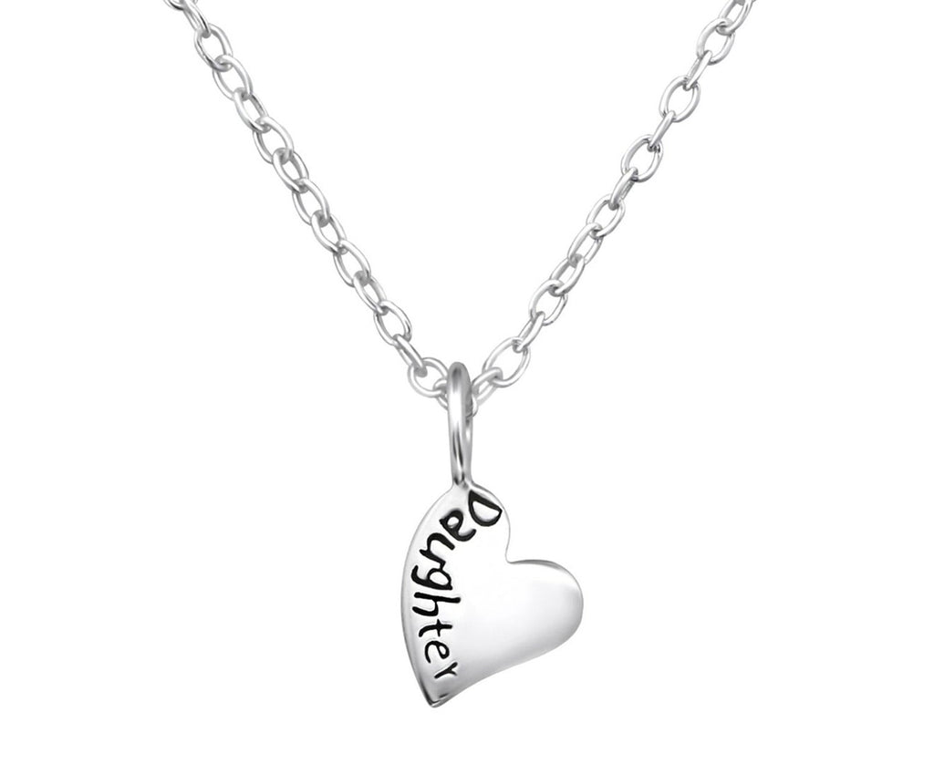 Children's Sterling Silver 'daughter' Necklace