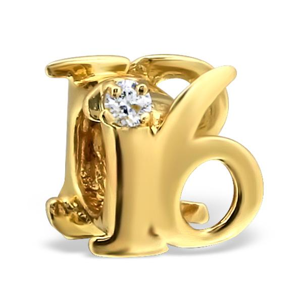 14k Gold Plated Sweet 16 Bead