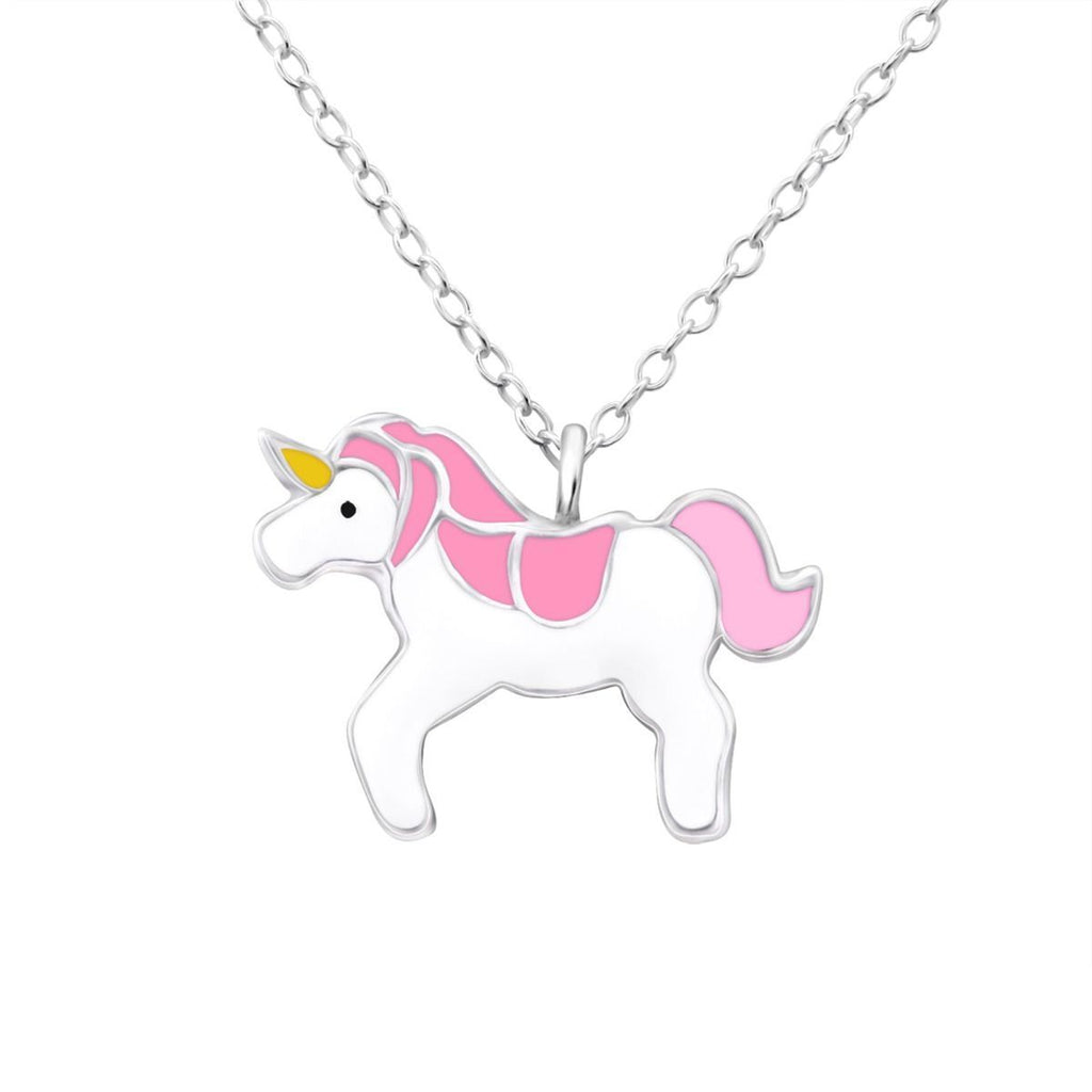 Children's Sterling Silver Unicorn Necklace and Earring Jewellery Set