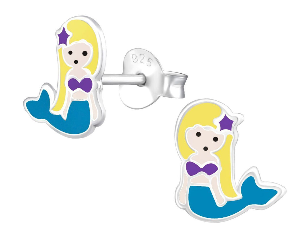 Children's Silver Mermaid Stud Earring