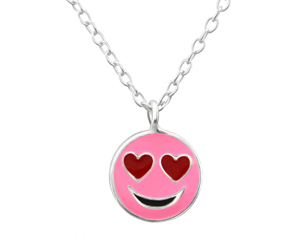 Children's Pink Emoticon Necklace