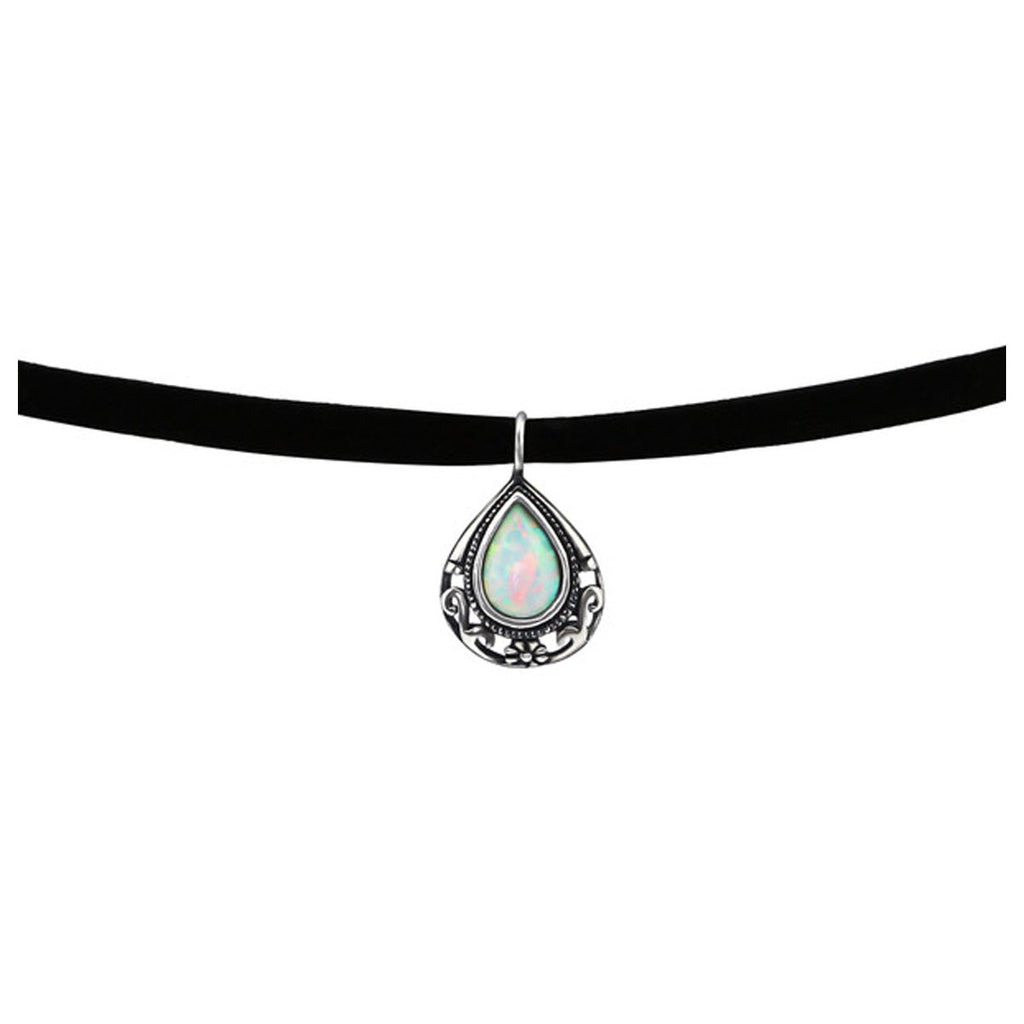 Teardrop Choker Necklace-Fire Snow