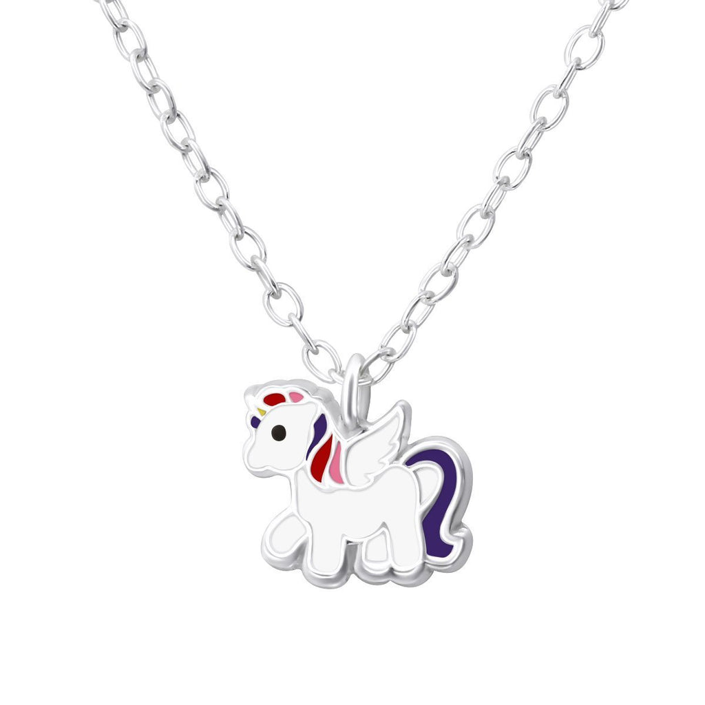 Children's Unicorn Necklace Sterling Silver