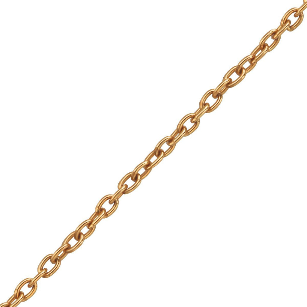 45cm Rose Gold Silver Cable Chain