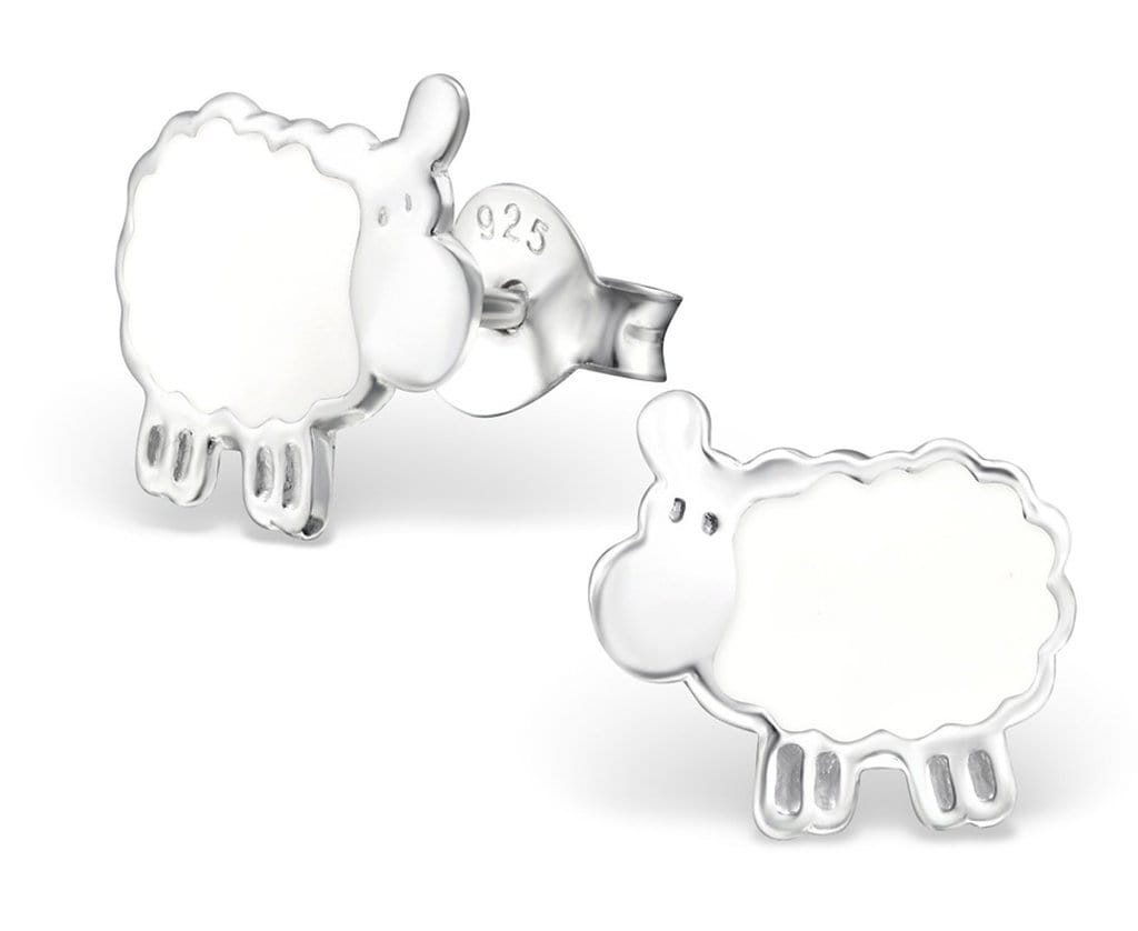 Silver Sheep Stud earrings for Girls