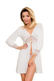 Luxury Dressing Gown - ecru