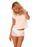 Viscose Lace Sleepwear Set - Ecru