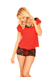 Viscose Lace Sleepwear with Shorts