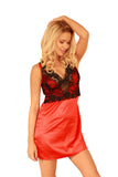 Luxury Red  Satin Chemise