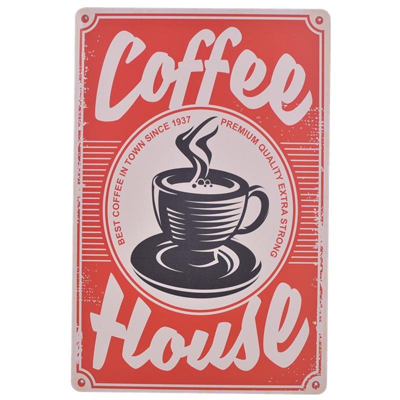 Coffee House Tin Sign Poster