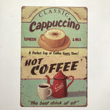 Cappuccino coffee vintage Poster