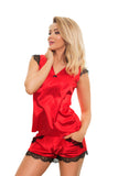 Luxury Sleepwear Nightwear Set - red