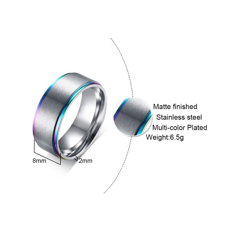 Stainless Steel Rainbow Edge Ring